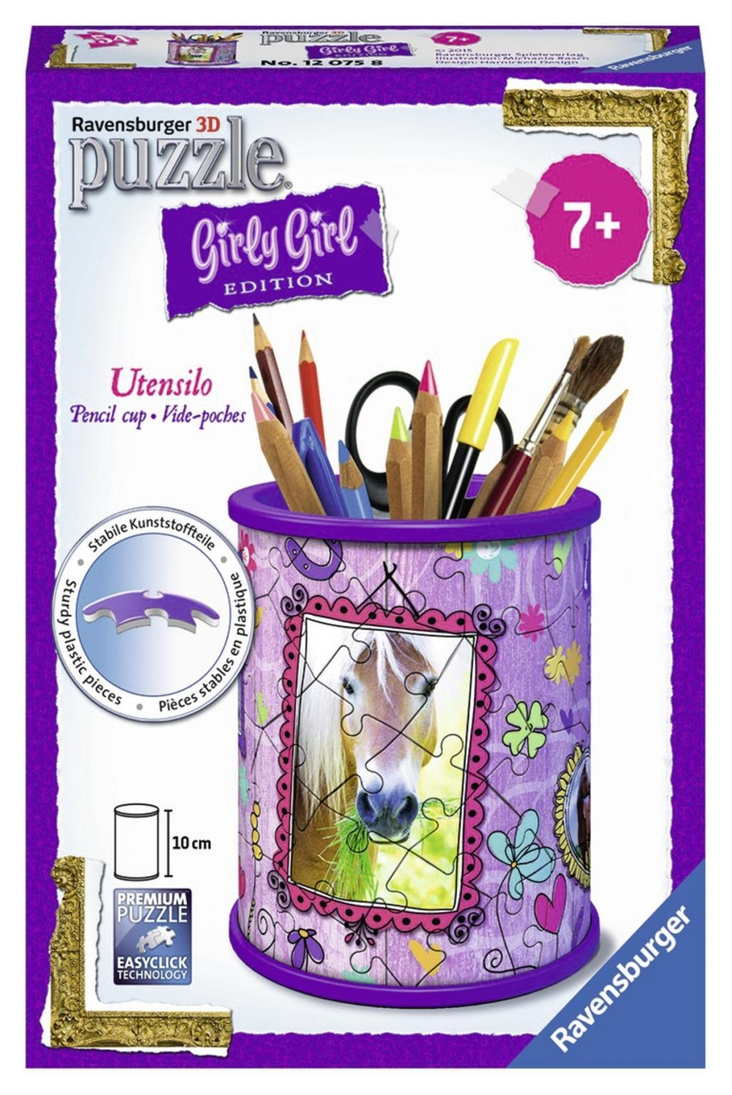 Ravensburger 12074 - 3D Puzzle Girly Girl Edition Utensilo Pferde | eBay