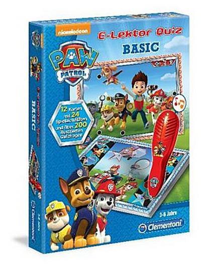 Clementoni 69368.9 - E-Lektor Quiz Basic Paw Patrol - Clementoni - Spielzeug, Deutsch, , ,