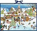 Weihnachtsmarkt im Dorf Wand-Adventskalender