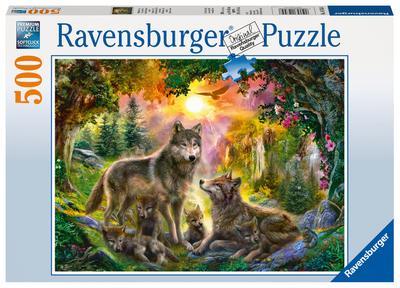 Ravensburger 14745 - Wolfsfamilie im Sonnenschein Erwachsenenpuzzle - Ravensburger Spielverlag - Spielzeug, Deutsch, , ,