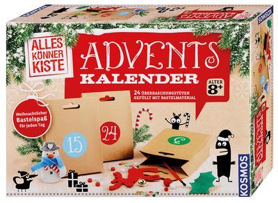 KOSMOS 604295 - Basteln Adventskalender 2017 - KOSMOS - Spielzeug, Deutsch, , 24 Überraschungstüten gefüllt mit Bastelmaterial, 24 Überraschungstüten gefüllt mit Bastelmaterial