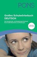 PONS Grosses Schulwörterbuch Deutsch: Das Rechtschreib- und Bedeutungswörterbuch