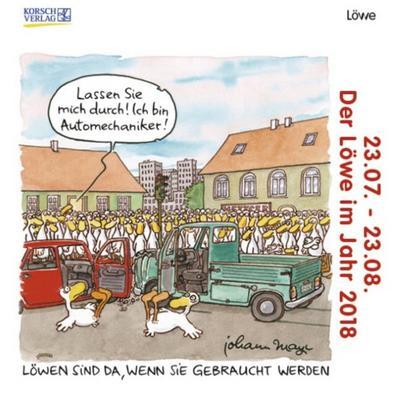 lowe-mini-2018-sternzeichenkalender-cartoon-minikalender-im-praktischen-quadratischen-format-10-x
