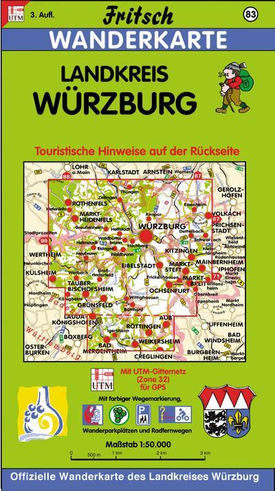 fritsch-karten-nr-83-landkreis-wurzburg-fritsch-wanderkarten-1-50000-