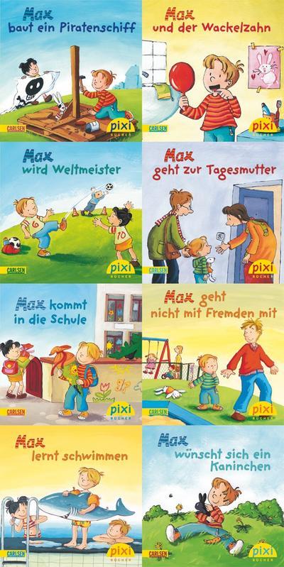 pixi-bundle-8er-serie-197-hier-kommt-max-pixi-8er-set-band-197-