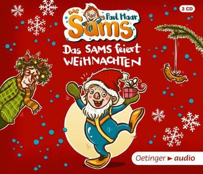 Das Sams feiert Weihnachten (3 CD): Ungekürzte Lesung, 150 Min.