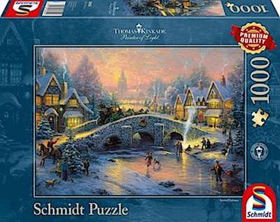 schmidt-spiele-58450-thomas-kinkade-winterliches-dorf-1000-teile-puzzle, 8.99 EUR @ regalfrei-de