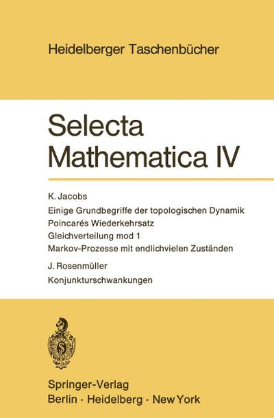selecta-mathematica-iv-heidelberger-taschenbucher-