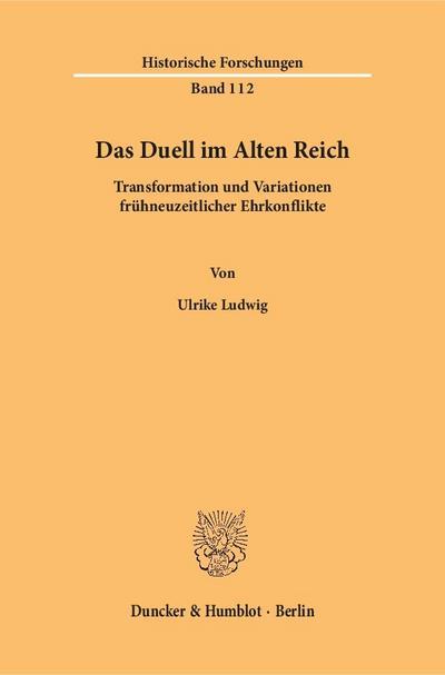 Das Duell im Alten Reich