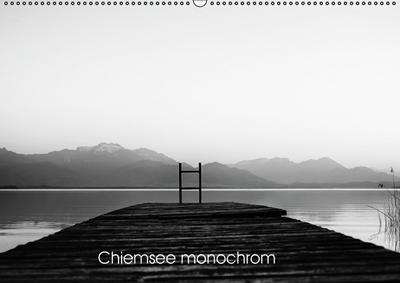 Chiemsee monochrom (Wandkalender 2017 DIN A2 quer)