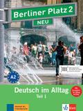 """Berliner Platz 2 NEU in Teilbänden - Lehr- und Arbeitsbuch 2, Teil 1 mit Audio-CD und """"Im Alltag EXTRA"""""""