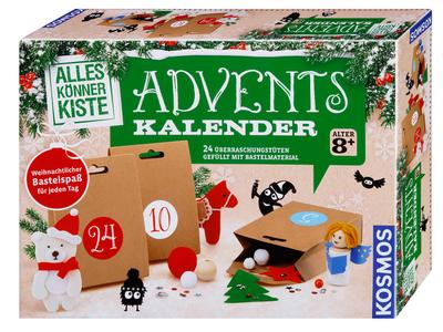Kosmos Experimente & Forschung 604349 Alleskönnerkiste Basteln Adventskalender 2018 - KOSMOS - Spielzeug, Deutsch, , 24 Überraschungstüten gefüllt mit Bastelmaterial, 24 Überraschungstüten gefüllt mit Bastelmaterial