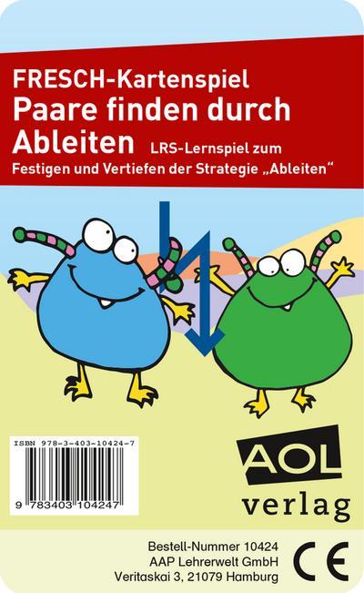 FRESCH-Kartenspiel: Paare finden durch Ableiten (Kartenspiel) - AOL-Verlag I.D. AAP LFV - Spiel, Deutsch, Corinne Zimmermann, LRS-Lernspiel zum Festigen und Vertiefen der Strategie Ableiten (1. bis 4. Klasse), LRS-Lernspiel zum Festigen und Vertiefen der Strategie Ableiten (1. bis 4. Klasse)