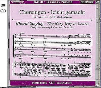 Johannes-Passion, BWV 245, Chorstimme Alt, 2 Audio-CDs - 123Noten - Audio CD, Deutsch, Johann Sebastian Bach, ,