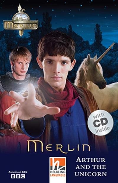 merlin-arthur-and-the-unicorn-mit-1-audio-cd-helbling-readers-movies-level-2-a1-a2-