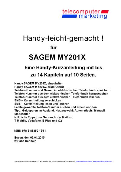 Sagem MY201X-leicht-gemacht