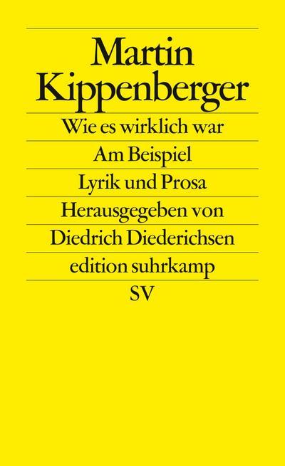 Wie es wirklich war – Am Beispiel: Lyrik und Prosa (edition suhrkamp)