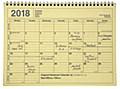 MARK'S 2018 Tischkalender M // Yellow