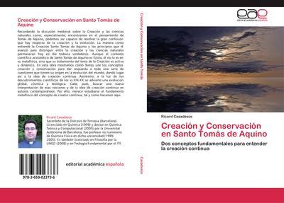 Creación y Conservación en Santo Tomás de Aquino