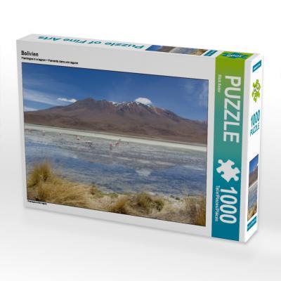 Bolivien 1000 Teile Puzzle quer - CALVENDO Verlag Gmbh - Spielzeug, Deutsch, Rick Astor, Flamingos in einer Lagune, Flamingos in einer Lagune