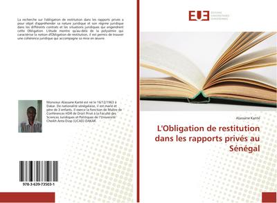 L'Obligation de restitution dans les rapports privés au Sénégal