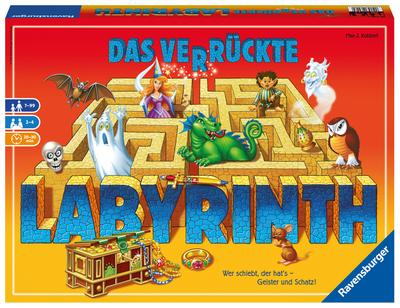 Ravensburger 26446 - Familienspiel Das verrückte Labyrith'