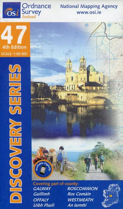 Irish Discovery Series 47. Galway, Offaly, Roscommon, Westmeath 1 : 50 000