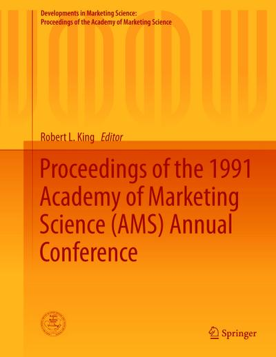 Proceedings of the 1991 Academy of Marketing Science (AMS) Annual Conference