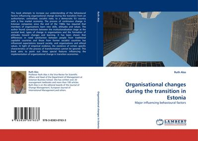 Organisational changes during the transition in Estonia
