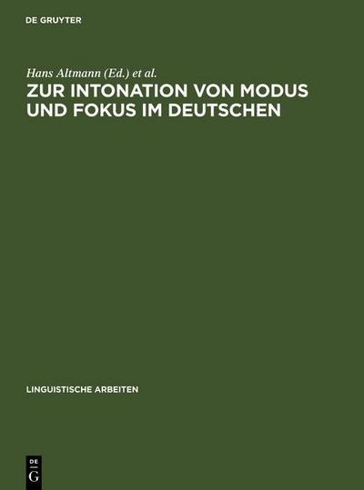 Zur Intonation von Modus und Fokus im Deutschen