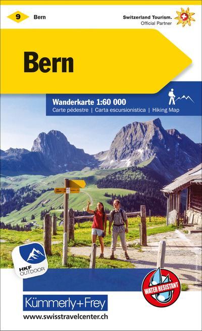 KuF Schweiz Wanderkarte 09 Bern 1 : 60 000