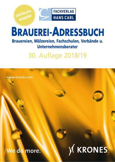 Brauerei-Adressbuch 30. Auflage 2018/19