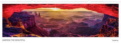America the Beautiful. Panoramakalender immerwährend