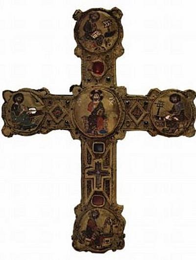 Meister des Reliquienkreuzes von Cosenza - Thronender Christus und die vier Evangelisten - 200 Teile (Puzzle)