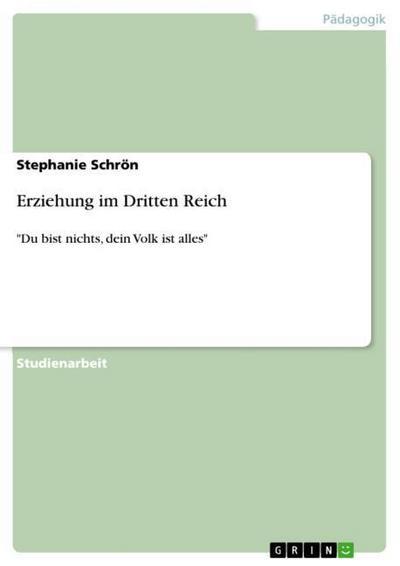 Erziehung im Dritten Reich