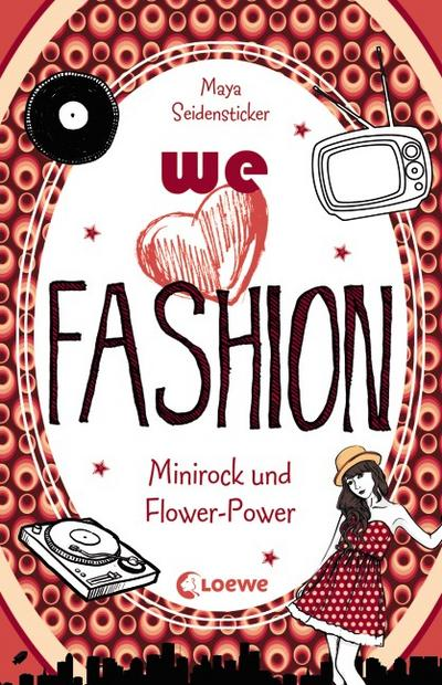 we love fashion - Minirock und Flower-Power   ; we love fashion ; mit Relieflack; Deutsch