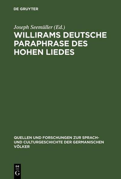 Willirams deutsche Paraphrase des Hohen Liedes