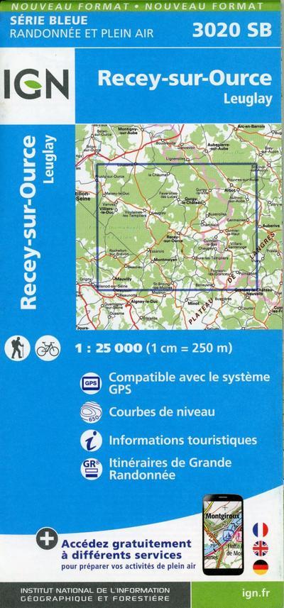 Recey-sur-Ource.Leuglay 1:25 000