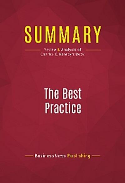 Summary: The Best Practice