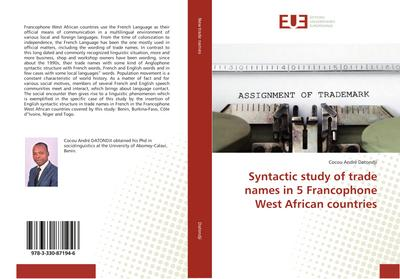 Syntactic study of trade names in 5 Francophone West African countries