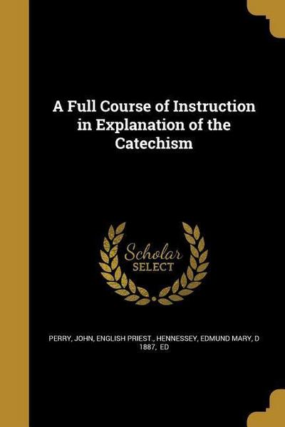 FULL COURSE OF INSTRUCTION IN