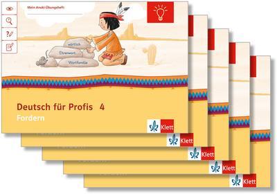 Mein Indianerheft. Deutsch für Profis. Fordern. Arbeitsheft Klasse 4 (5-er Paket)