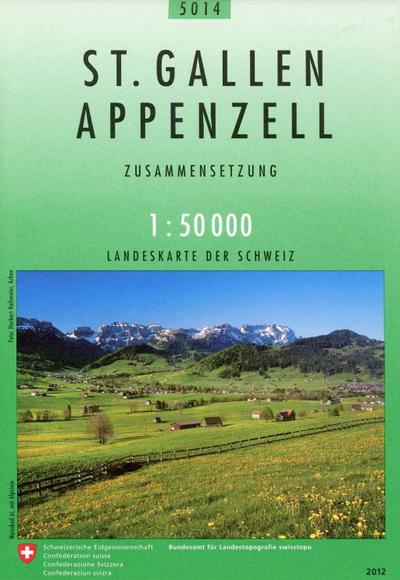 Swisstopo 1 : 50 000 St. Gallen Appenzell