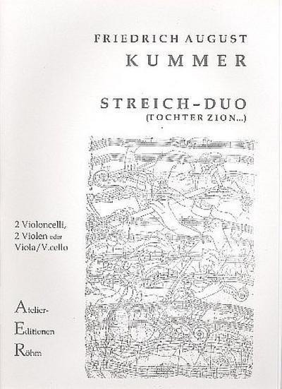 Variationen über Tochter Zion G-Durop.156  für 2 Violoncelli (2 Violen,