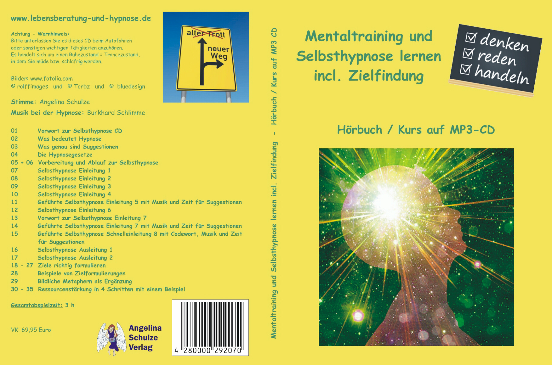 Mentaltraining und Selbsthypnose lernen incl. Zielfindung Angelina Schulze