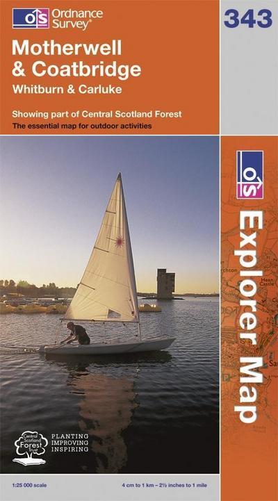 Motherwell & Coatbridge 1 : 25 000 (OS Explorer Map)