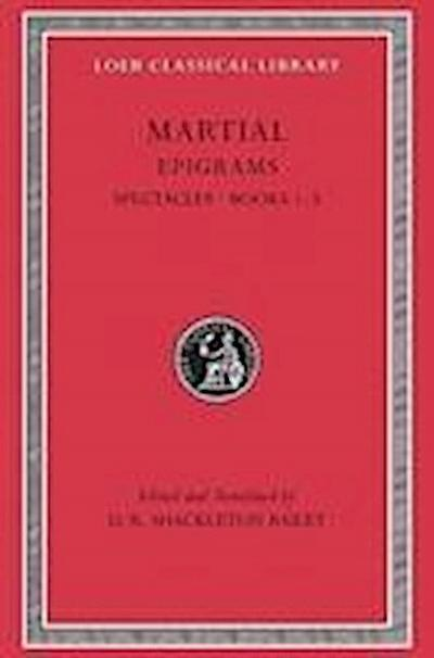 Martial Epigrams Spectacle Books 1-5