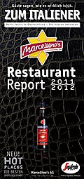 Marcellino`s Restaurant Report Zum Italiener 2011/2012: Bella Italia in Deutschland - Die besten Adressen