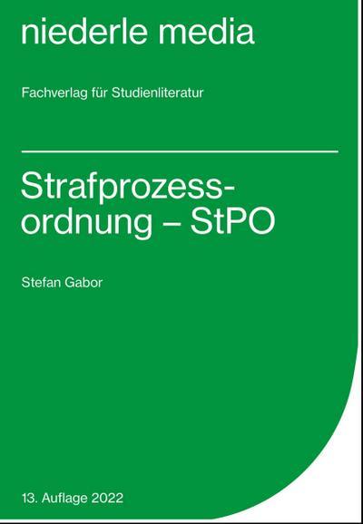 Strafprozessordnung - StPO - 2018