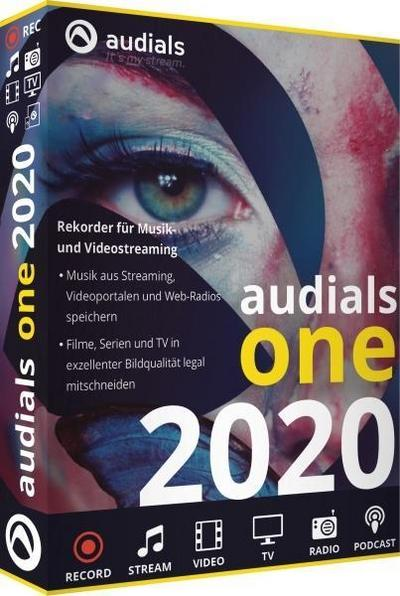 Audials One 2020 (Code in a Box). Für Windows 7/8/10